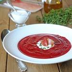 Суп-пюре из свеклы и фасоли