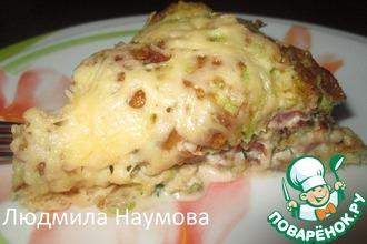 Рецепт: Закусочный торт Сытный кабачок