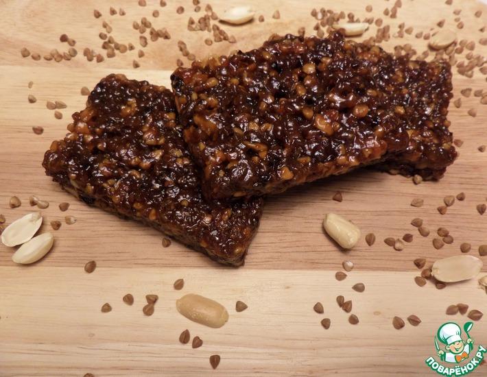 Рецепт: Козинаки из гречки и арахиса