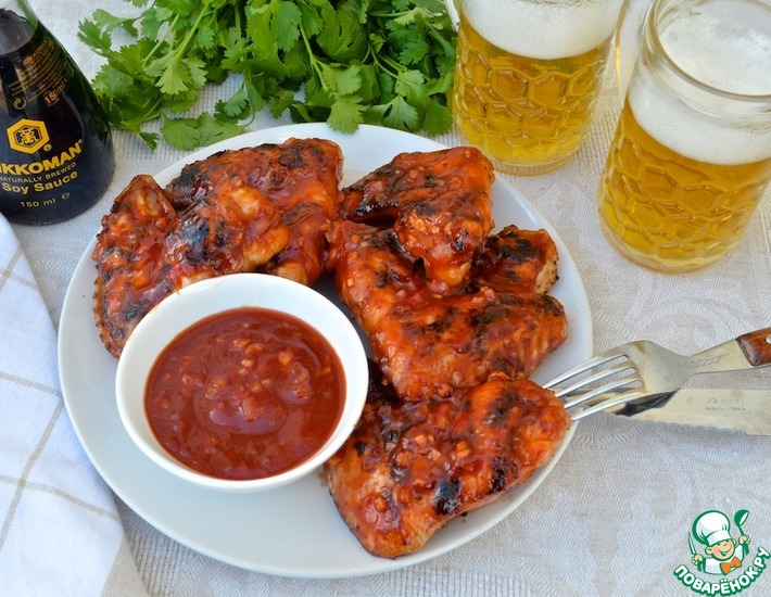 Рецепт: Куриные крылышки «Фиеста»