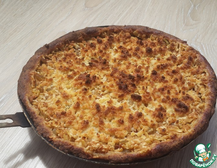 Рецепт: Яблочный пирог на рисовой муке без яиц