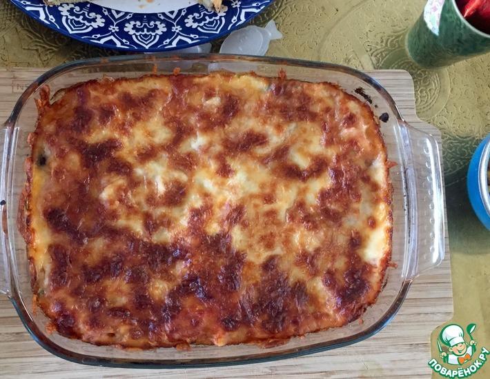 Рецепт: Овощная Лазанья с баклажанами и сладким перцем