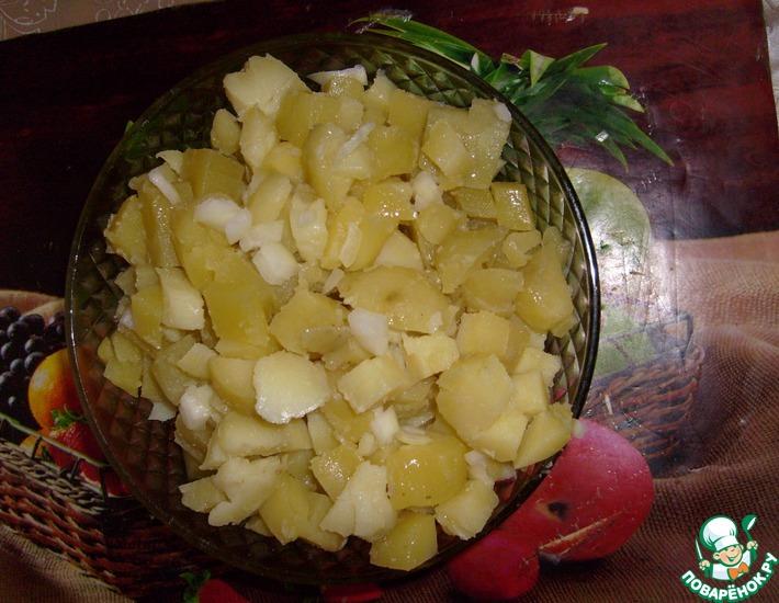 Рецепт: Картофельный салат для поста