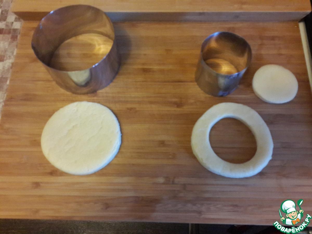Печенье с джемом и овсяными хлопьями