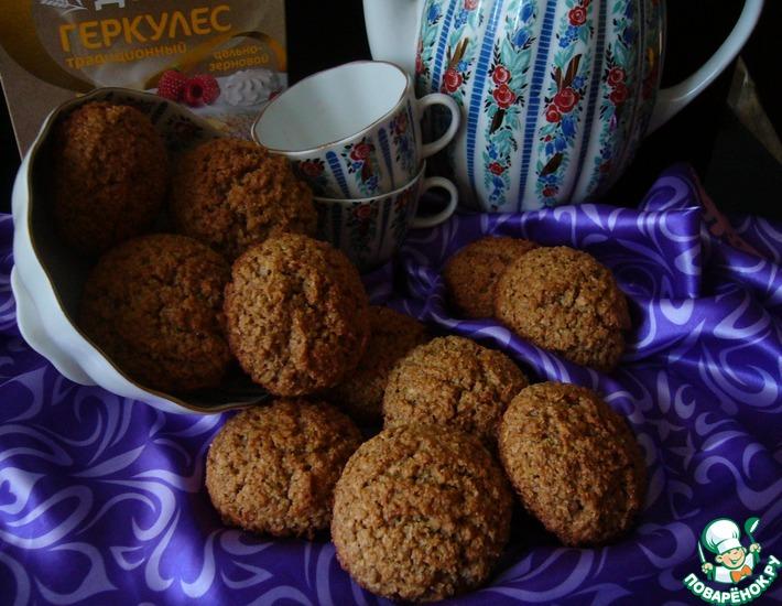 Рецепт: Печенье овсяное с ржаной мукой