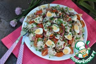 Рецепт: Тёплый салат с гречкой