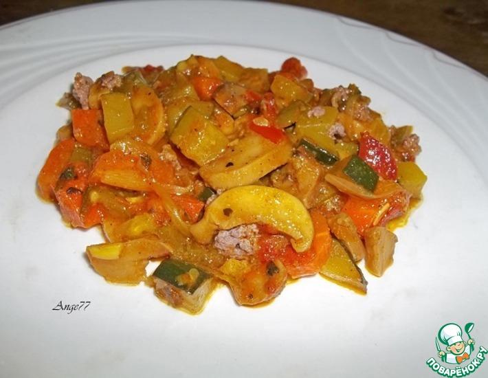 Рецепт: Рагу из овощей с шампиньонами Гармония