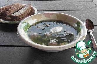 Рецепт: Крапивный суп с фрикадельками