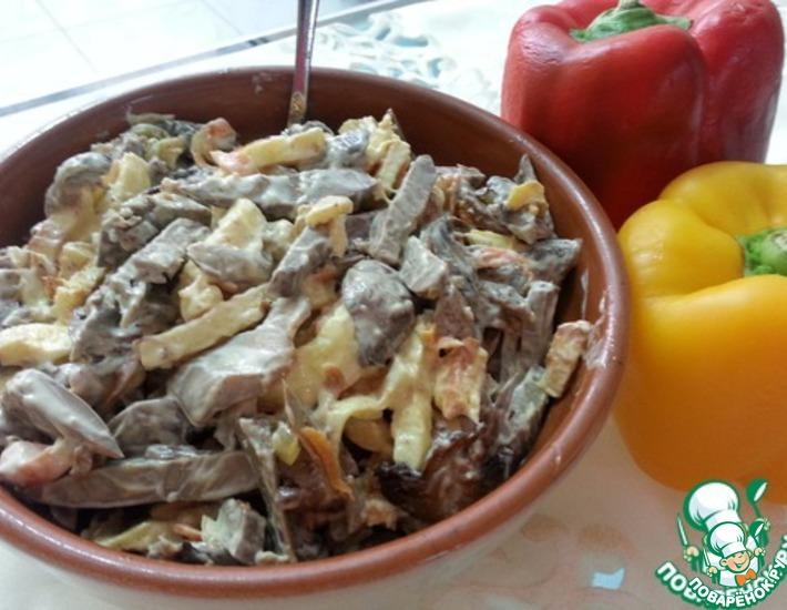 Рецепт: Салат  Импровизация с печенью