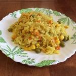 Рис с кукурузой и горошком в мультиварке