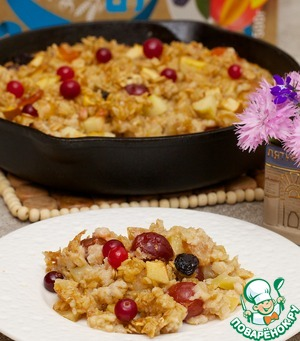 Baked oatmeal with Apple