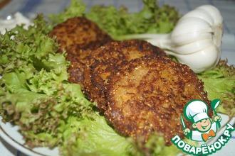 Рецепт: Гречнево-кабачковые оладьи