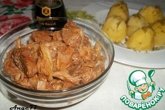 Рецепт: Тушеная свинина с капустой