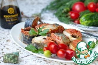 Рецепт: Скумбрия с томатами