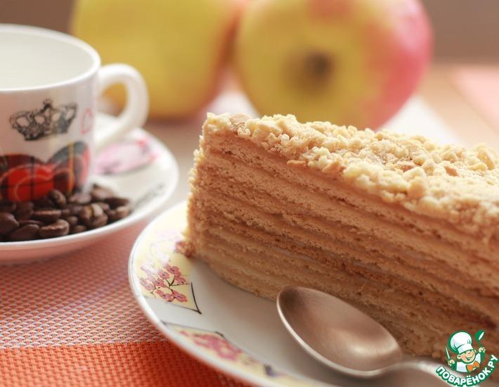 Рецепт: Торт медовый Неженка