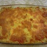 Куриная печень с овощами и сыром