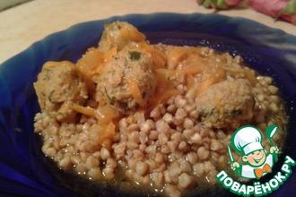 Рецепт: Зеленые тефтели с чесноком