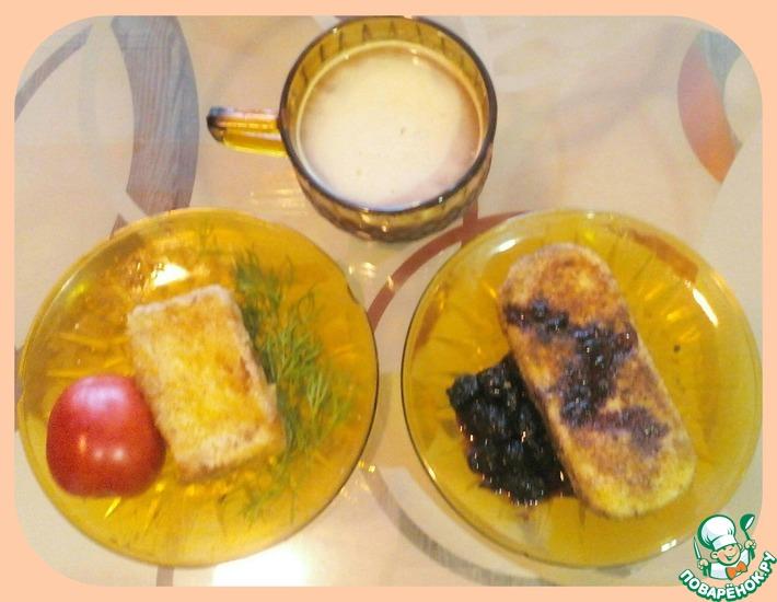Рецепт: Жареный сыр Ароматы Франции