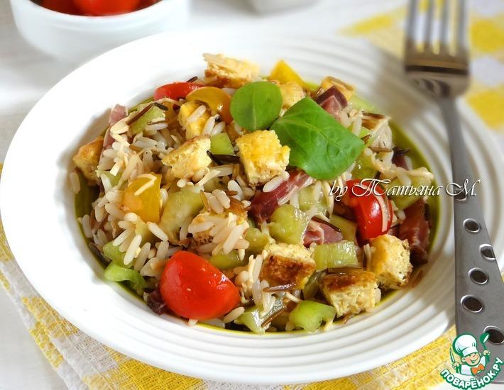 Рецепт: Испанский салат с рисом