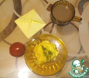 Омлет с ветчиной и сыром в СВЧ-печи, пошаговый рецепт, фото, ингредиенты - olga