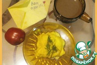 Рецепт: Сырный омлет в СВЧ Бон аппети