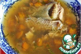 Рецепт: Суп с цесаркой, грибами и вермишелью