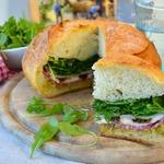 Фаршированный хлеб Пан банья