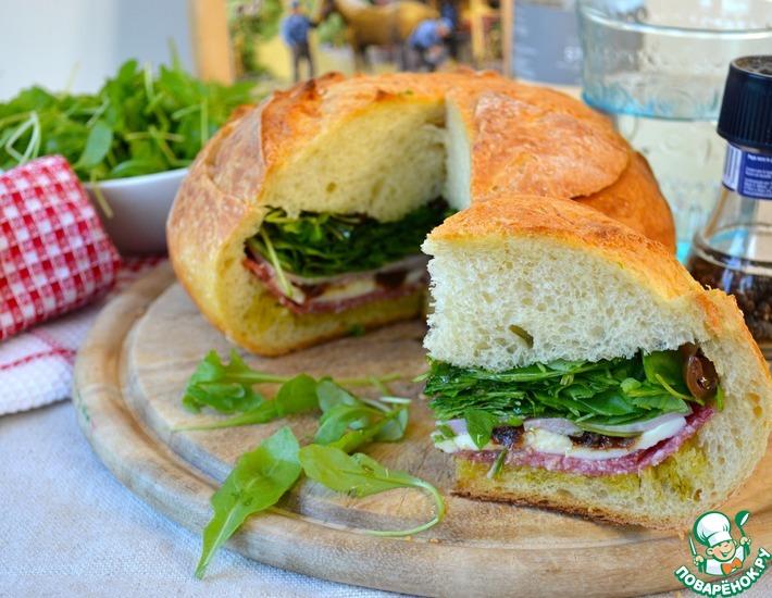 Рецепт: Фаршированный хлеб Пан банья
