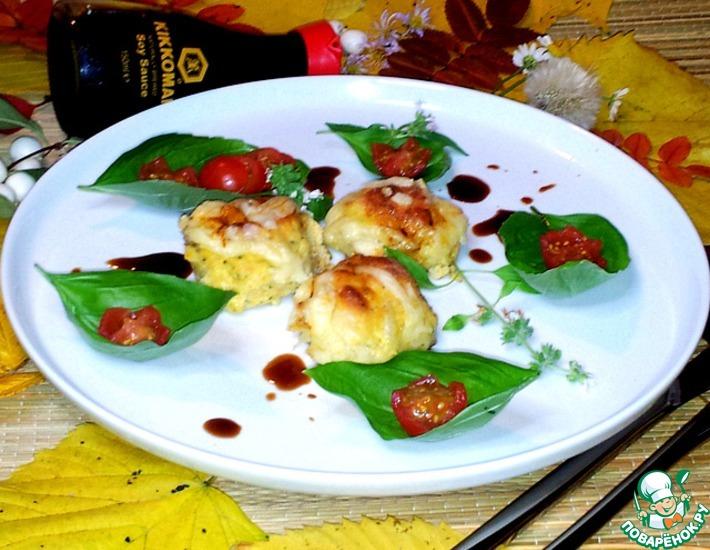 Рецепт: Биточки Аппетитные из филе курицы и овощей