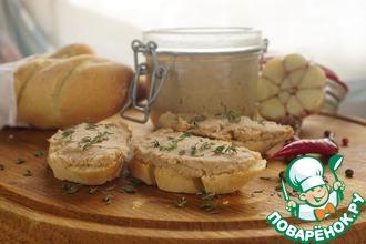 Рецепт: Рийет из свинины на французском багете