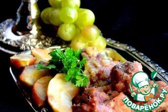 Рецепт: Свинина по-французски с имбирем и яблоками