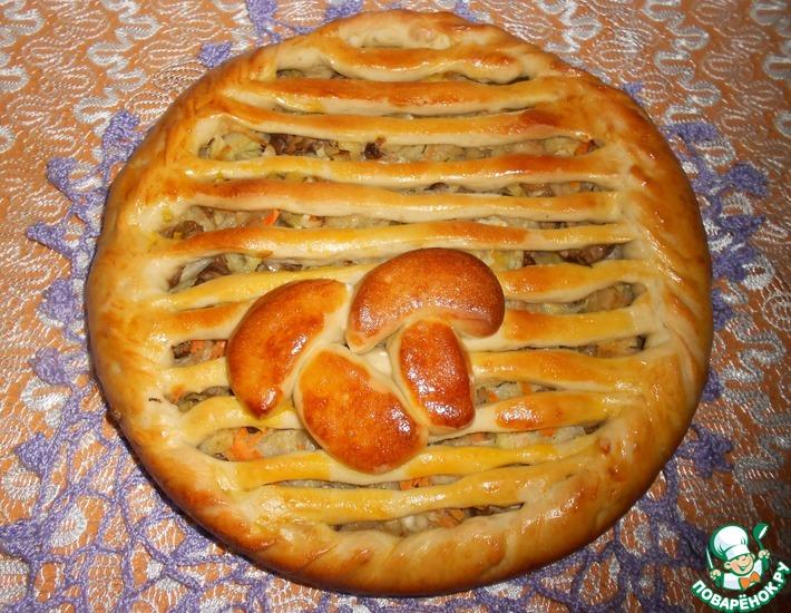 Рецепт: Пирог Грибная поляна
