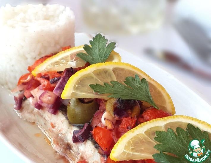 Рецепт: Камбала по-средиземноморски