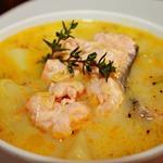 Финский лососевый суп со сливками Лохикейтто