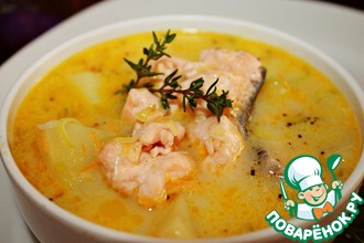 Рецепт: Финский лососевый суп со сливками Лохикейтто