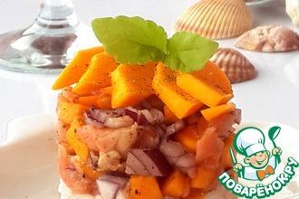 Рецепт: Тартар из лосося и манго