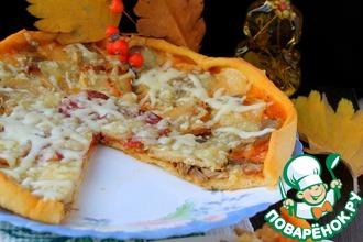 Рецепт: Пицца Мясной Рай