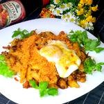 Макароны с куриным филе и морковью