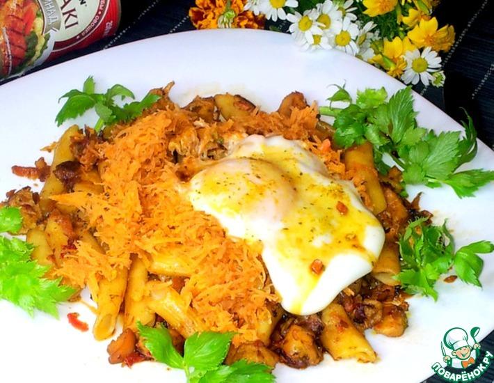 Рецепт: Макароны с куриным филе и морковью