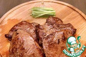 Рецепт: Говяжий стейк, маринованный в соусе терияки