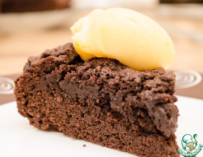 Рецепт: Шоколадный торт по рецепту бабушки Ивонн