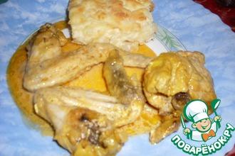 Рецепт: Курица с шафраном