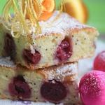 Вишнёво-сметанный пирог