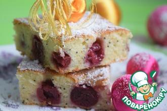 Рецепт: Вишнёво-сметанный пирог