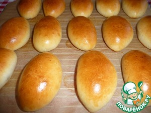 Пирожки пуховые
