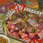 Салат с сельдью по-норвежски