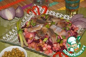 Рецепт: Салат с сельдью по-норвежски