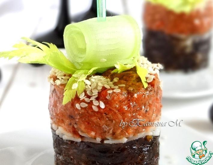 Рецепт: Рыбная закуска с рисом