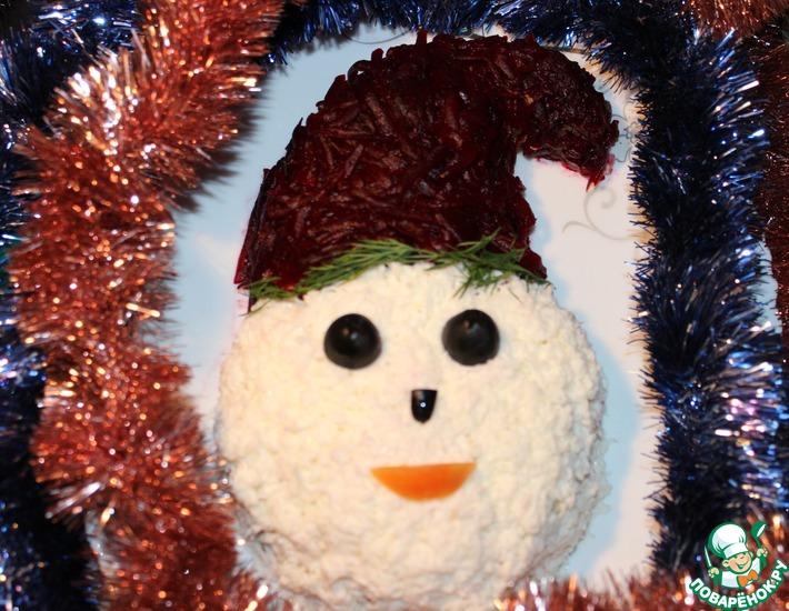 Рецепт: Салат Весёлый гномик новогодний