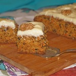 Морковный кекс с грецкими орехами